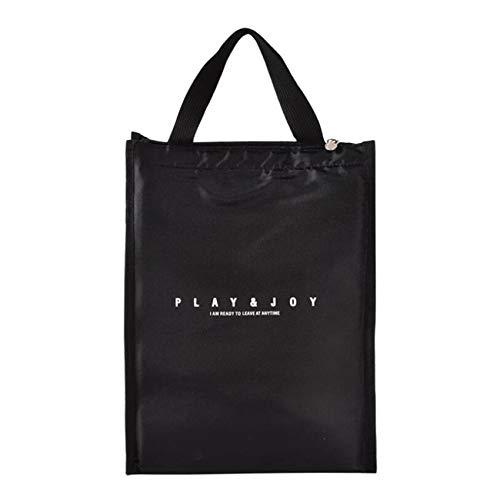 Figutsga Lunch Box Tote Cooler Bag Faltbare bedruckte Cooler Handtasche für Männer Frauen Erwachsene Kinder,schwarz