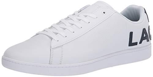 Lacoste Men's Carnaby Sneaker, White/Navy, 9 Medium US