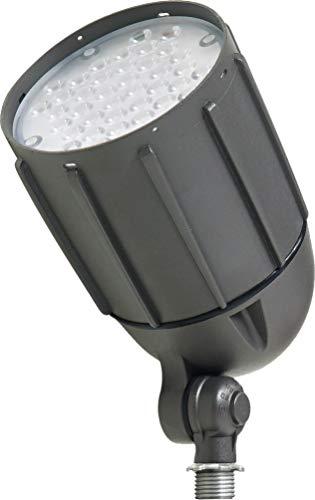 Newhouse Lighting V5BLF30BRZ 30-Watt Die-Cast Aluminum LED Bullet Flood Outdoor, Weatherproof Landscape Lighting 3600 Lumens, 3000K Warm White, 1/2