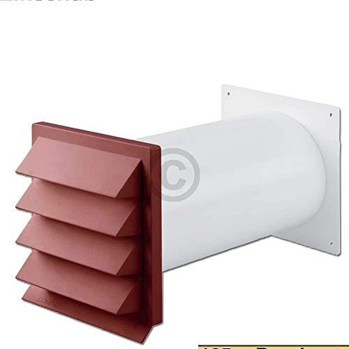TronicXL Premium Mauer Durchführung Universal Mauerdurchführung 125er 125mm rot für Dunstabzugshaube Trockner Klimaanlage Zubehör