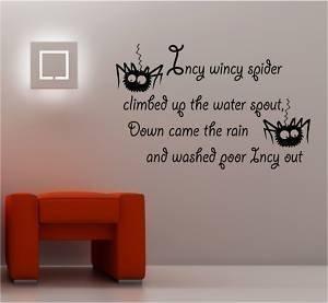 Online Design Incy Wincy Crèche Rime Autocollant Art Mural Vinyle Enfants - Vert Forêt