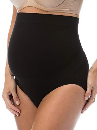 RelaxMaternity 5100 (Schwarz, L) Schwangerschafts-Slip Baumwolle mit eingebauter Unterleibstütze