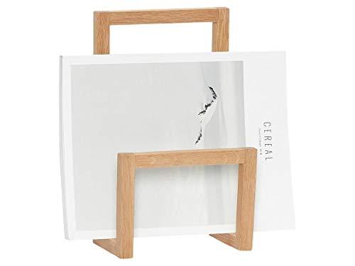 Magazinhalter/Zeitschriftenhalter/Zeitschriftenständer für Wandmontage in Eiche Natur mit 17cm Breite und 10cm Tiefe - Ordnungshelfer im Alltag, ideal für Wohnzimmer, Küche, Flur/Diele.