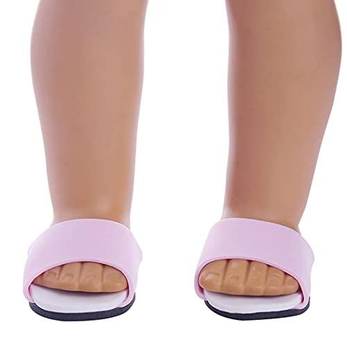 COSYOO Pantofole per Bambole Realistici Adorabili Sandali Casual per Bambole Scarpe per Bambole per Bambole da 18 Pollici Decorazione Realistica Portatile Leggera