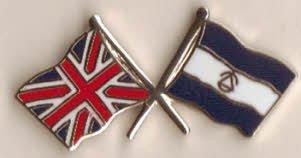 Gran Bretaña GB Reino Unido y Nicaragua bandera insignia de la amistad