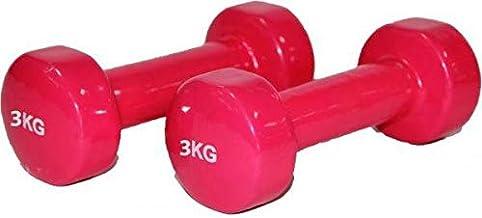 مجموعة دمبل مطلي بالفينيل 3 كيلو * 2 - احمر، EM-9219-3