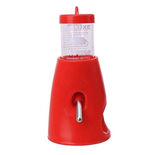QWSX Outils d'alimentation pour volaille 80ml Pet Hamster Souris Porte-Bouteille d'eau Distributeur de Base Hut Nest Feeder Hideout Robinet pour Animaux (Color : Red)