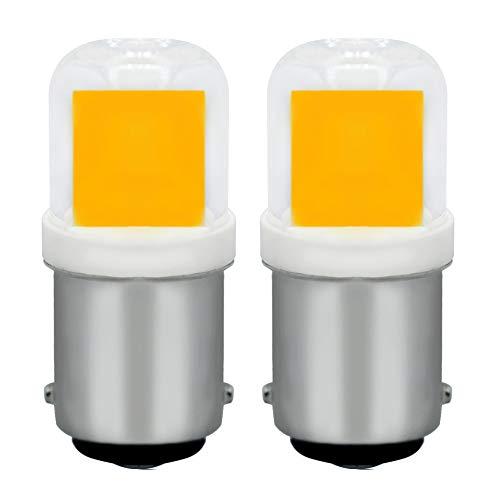 Dimmbar 2W B15D LED Leuchtmittel Ersatz 20W Halogenlampe Warmweiß 3000K AC 220-240V B15D Bajonettverschluss Leuchter Dekoration, 2-Pack