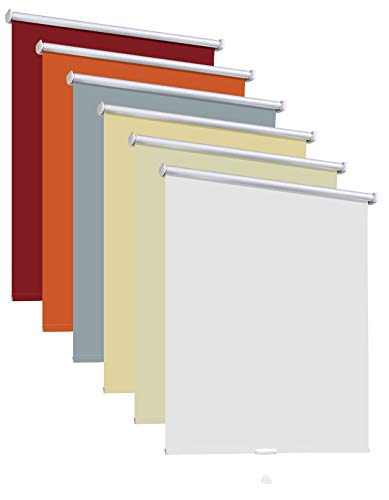 Thermorollo Hitzeschutzrollo Verdunkelungsrollo Schlafzimmerrollo Springrollo Rollo 6 Farben Breite 60-240 cm Länge 175 cm Fenster Vorhang lichtundurchlässig verdunkelnd (60 x 175 cm / Sand Beige)