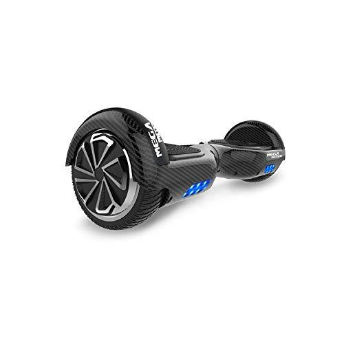 SOUTHERN-WOLF Hoverboard Self-Balancing Scooter, 6,5zoll Hover Scooter Board Bluetooth Scooter mit bunten Lichter Bluetooth eingebaute Geschenk für z29 (Carbon Black)
