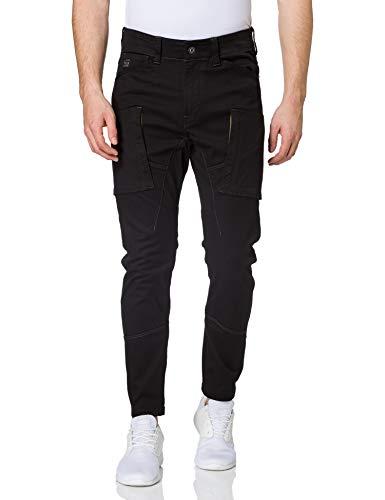 G-STAR RAW Mens Zip Pocket 3D Skinny Cargo Pants, dk Black C105-6484, 35W / 34L