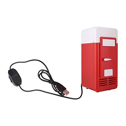 DC 5V 10W kleine koelkast, PC USB draagbare koelkast, mini kantoor/kamer/garage koelkast, minikoeler/verwarming - rood/zwart (rood)