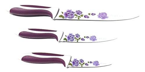 Set de 3 couteaux de cuisine avec manche antidérapant ergonomique