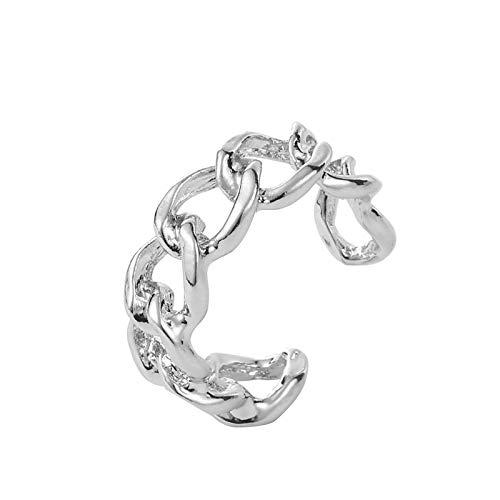 Hwjmy Anillo chapado en oro de 7 mm de ancho, adecuado para anillos unisex vintage, accesorios de joyería (color principal de la piedra: R038yin)