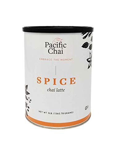 Pacific Chai Spice Chai Latte Powder Mix, Instant Hot, Iced or Blended Chai Tea Latte, 3 lb (Pack of 1)