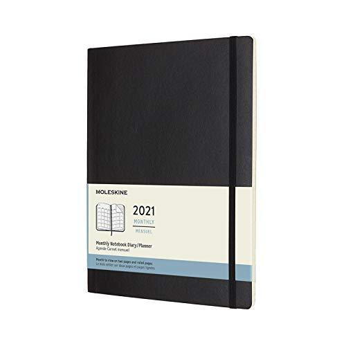モレスキン 手帳 2021年 1月始まり 12ヶ月 マンスリーダイアリー ソフトカバー XLサイズ ブラック DSB12MN4Y21