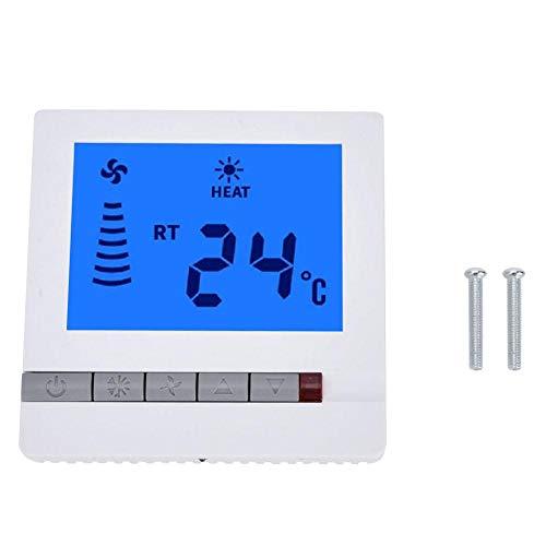Controlador de temperatura, Delaman LCD Termostato Fan Coil Controller Room Termostato digital Instrumento de control de temperatura del piso