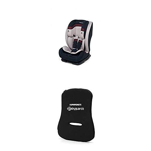 Foppapedretti Re-klino Fix Seggiolino Auto, Gruppo 1/2/3 (9-36 Kg), per Bambini da 9 Mesi a 12 Anni, ISOFIX, Grigio + Dispositivo Antiabbandono, Nero