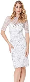 Rose Noir #508 - Emblem Sequins Dress (Ivory Size 8)