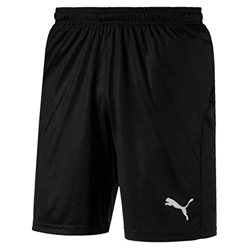 Puma Herren Liga Shorts Core with Brief Hose, Black White, XL