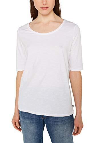 Esprit 990ee1k303 T-Shirt À Manches Longues, Blanc (White 100), Small Femme