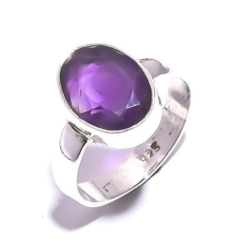 Mughal Gems & Jewelry - Anillo plata ley 925 amatista