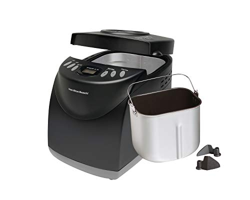 Mejor Hamilton Beach 2 lb Digital Bread Maker, Programmable, 12 Settings + Gluten Free, Dishwasher Safe Pan + 2 Kneading Paddles, Black (29882) crítica 2020