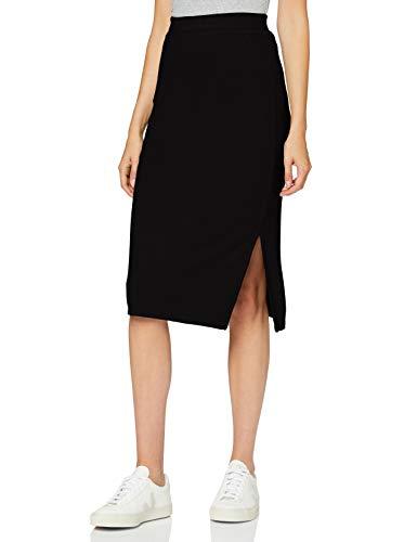 find. Damen Maxirock aus Baumwolle, Schwarz (Black), 36, Label: S