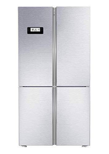 GRUNDIG GQN 21225 X 4-türige Kühl- Gefrierkombination/ 80 cm breite Glasablagen/No Frost/Festwasseranschluss/Eiswürfelherstellung/FullFresh+/ 43 dB/A++