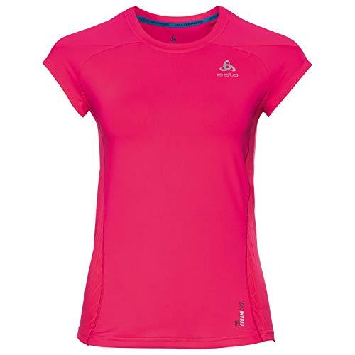 Odlo Damen BL Crew Neck Cerami Cool Pro Shirt XL Rose (Diva)