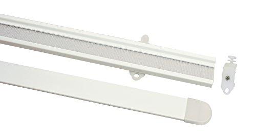 Gardinia 30131 rieles 60 cm, Blanco con Barra de Peso