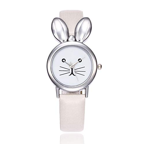 Reloj de Pulsera analógico para Mujer, diseño de Orejas de Conejo, Piel...