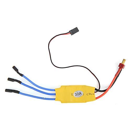 Dilwe RC sin escobillas ESC, Controlador de Velocidad eléctrico 30A sin escobillas ESC Adecuado para Aviones KT de ala Fija