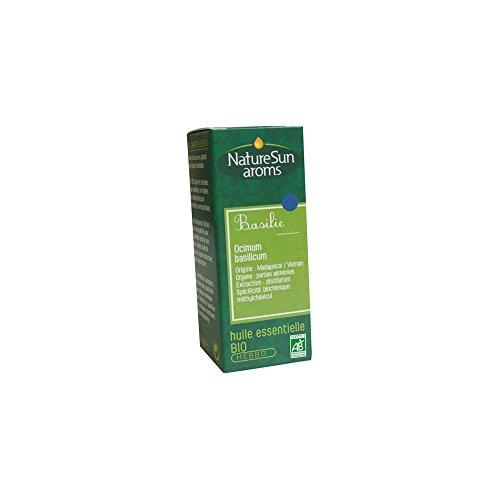 Naturesun aroms - Huile essentielle basilic bio - 10 ml huile essentielle ocimum basilicum