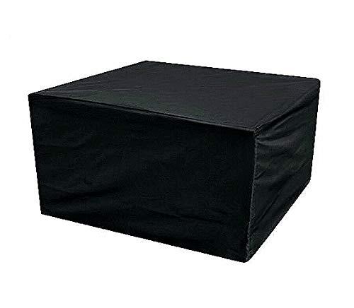 Generies Sunoyo - Funda para muebles de jardín (180 x 120 x 72 cm), color negro y plateado, negro