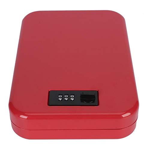 frenma Caja de Almacenamiento de contraseña, Caja de Seguridad para el hogar con Esponja de Memoria Interna compacta, Gimnasio, supermercados, Oficina en casa para apartamento(Red)