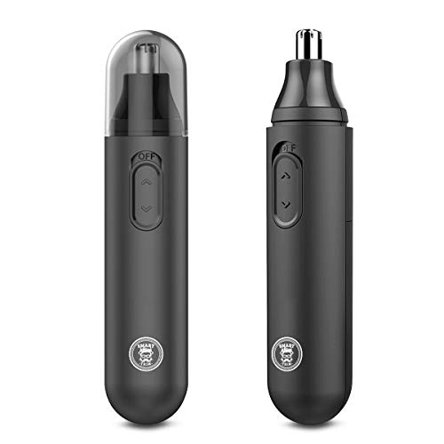Smart Trim Nose Hair Trimmer - Professional Hair Trimmer for Nose, Ear, Eyebrows & Beard - Powerful & Quiet Motor - Waterproof Hair Remover for Men & Women - Nose Trimmer with Double Edge Blades
