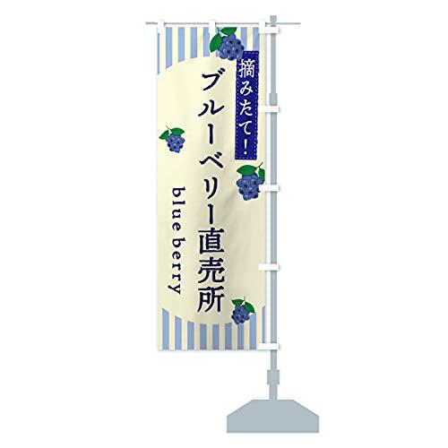 ブルーベリー直売所 のぼり旗 サイズ選べます(ジャンボ90x270cm 右チチ)