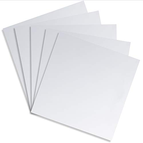 Square Mirror Adhesive Sheet for Tiles and Wall Decor (11.8 in, 5 Pack)