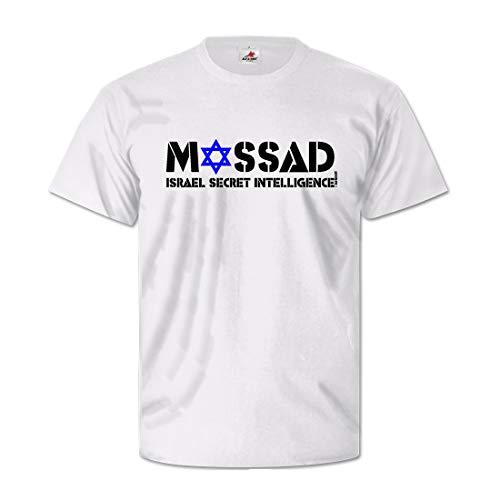 mosad–Israel Secret Intelligence israelischer Secreto Servicio Extranjero Secreto Servicio–Camiseta #, E-7214 blanco Large
