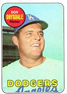 1969 Topps Regular (Baseball) Card# 400 Don Drysdale of the Los Angeles Dodgers Good Condition