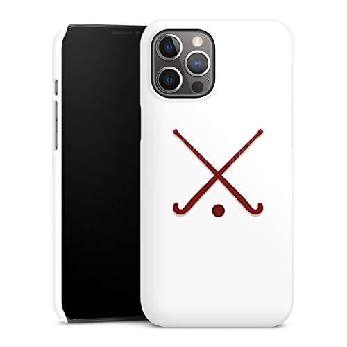 DeinDesign Premium Case kompatibel mit Apple iPhone 12 Pro Max Smartphone Handyhülle Hülle matt Hockey Hobby Sport