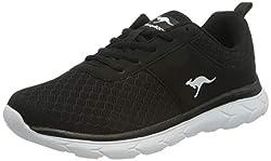 KangaROOS Damen KN-Bumpy Sneaker, Jet Black 5001, 39 EU