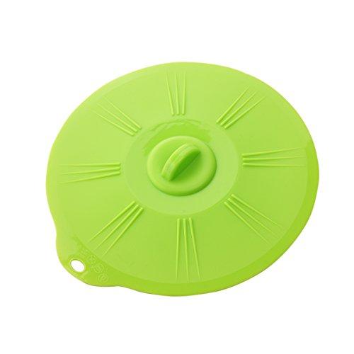 Bestonzon Premium Nourriture Grade Silicone couvercles réutilisables Aspiration couvercles pour votre bols, tasses, casseroles, poêles en silicone Bol couvertures (Vert)