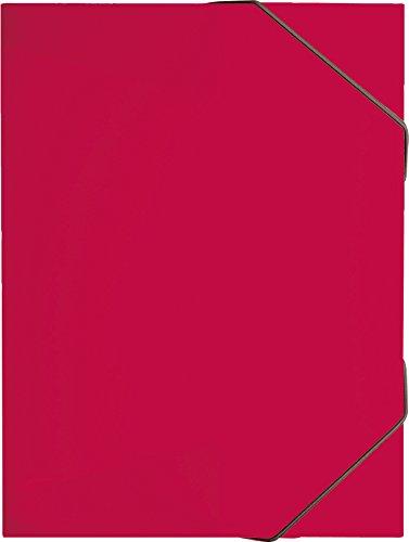 Brunnen 104163923 Sammelbox / Heftsammler FACT!pp (transluzenter PP-Folie, für A4, mit Gummizugverschluss) rot