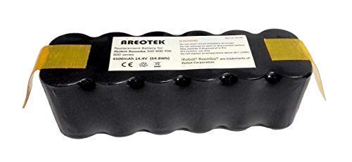 Areotek 4500mAh Running Time 2.5-3 Hours XLife Roomba Battery Replacement for R3 500 600 700 800 Series Robot Vacuums