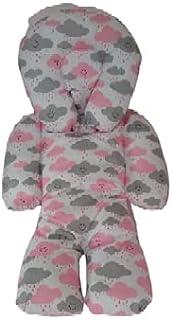 Almofada Protetora Redutor de Bebê Conforto Nuvem Cinza com Rosa