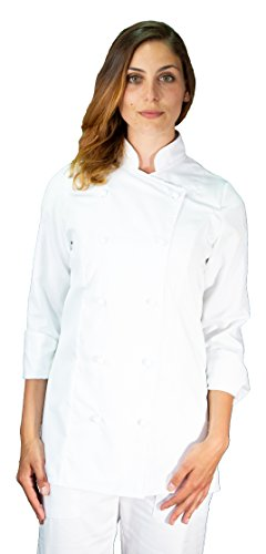 tessile astorino Giacca Cuoco Bianca Donna, Made in Italy (S)