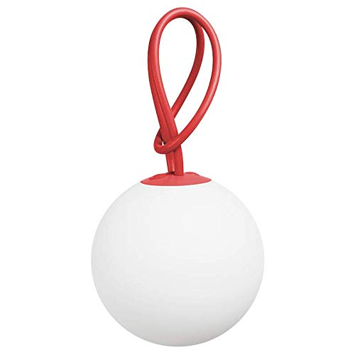 Fatboy® Bolleke rot | Hängelampe für Innen & Außen | ohne Kabel | aufladbar mit USB | 20 x 20 x 100 cm