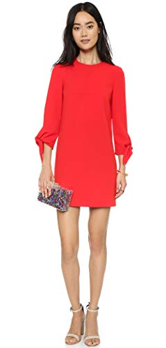 Tibi Tie Sleeve Dress in Scarlett Red (8)